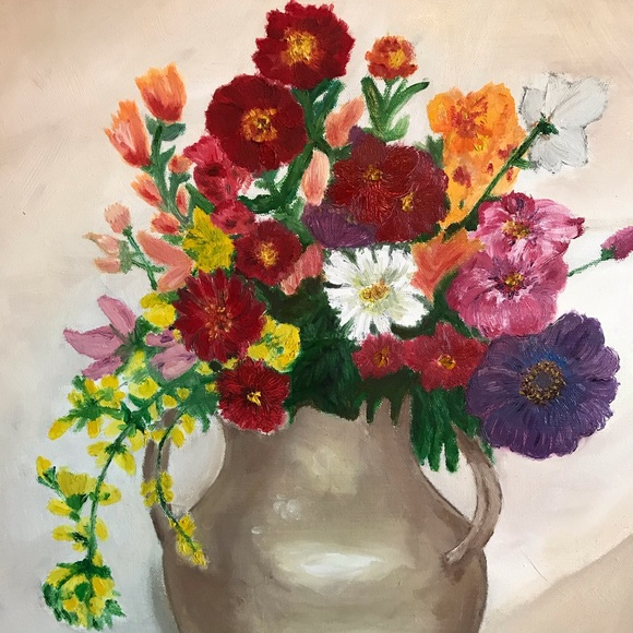 """Other - Original Oil Painting flowers Still 15x19"""""""